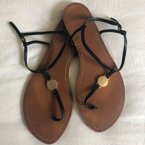 Ralph Lauren Shoes - Women's Ralph Lauren Black Sandals Size 8.5